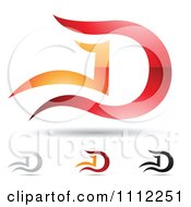 Clipart Abstract Letter D Icons With Shadows 6 Royalty Free Vector Illustration
