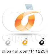 Clipart Abstract Letter D Icons With Shadows 4 Royalty Free Vector Illustration