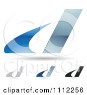 Clipart Abstract Letter D Icons With Shadows 9 Royalty Free Vector Illustration
