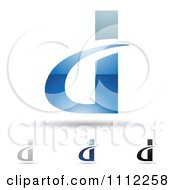 Clipart Abstract Letter D Icons With Shadows 7 Royalty Free Vector Illustration