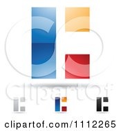 Clipart Abstract Letter C Icons With Shadows 1 Royalty Free Vector Illustration by cidepix