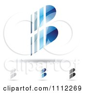 Clipart Abstract Letter B Icons With Shadows 5 Royalty Free Vector Illustration by cidepix