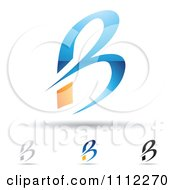 Clipart Abstract Letter B Icons With Shadows 4 Royalty Free Vector Illustration