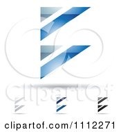 Clipart Abstract Letter B Icons With Shadows 3 Royalty Free Vector Illustration