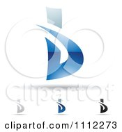 Clipart Abstract Letter B Icons With Shadows 1 Royalty Free Vector Illustration
