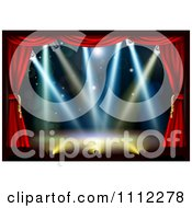 Clipart Empty Theater Stage With Red Curtains And Shining Lights Royalty Free Vector Illustration by AtStockIllustration