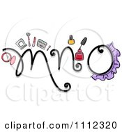 Clipart Feminine Alphabet Letters M N And O Royalty Free Vector Illustration by BNP Design Studio