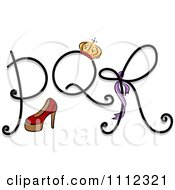 Clipart Feminine Alphabet Letters P Q And R Royalty Free Vector Illustration by BNP Design Studio