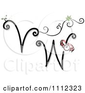 Clipart Feminine Alphabet Letters V And W Royalty Free Vector Illustration by BNP Design Studio