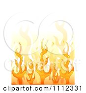 Background Of Orange Flames With White Copyspace