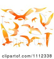Flame Design Elements Forming Birds 2