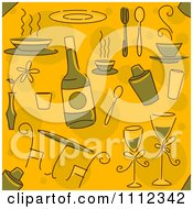 Clipart Seamless Fine Dining Background Pattern Royalty Free Vector Illustration