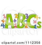 Clipart ABC Letters With Math Equations Royalty Free Vector Illustration