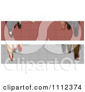 Clipart Website Blog Headers Of Business Feet On Tiled Flooring Royalty Free Vector Illustration