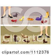 Clipart Website Blog Headers Womens Feet With Shoes Royalty Free Vector Illustration