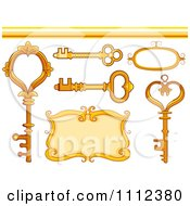 Clipart Vintage Skeleton Keys A Frame Border And Design Elements Royalty Free Vector Illustration