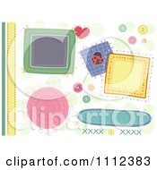 Clipart Patch And Stitch Sewing Border And Design Elements Royalty Free Vector Illustration