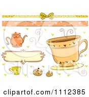 Clipart Tea Time Border And Design Elements Royalty Free Vector Illustration by BNP Design Studio