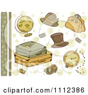 Clipart Vintage Travel Border And Design Elements Royalty Free Vector Illustration