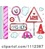 Clipart Love And Transportation And Border Design Elements Royalty Free Vector Illustration