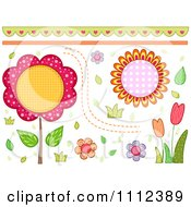 Clipart Floral Border And Design Elements Royalty Free Vector Illustration