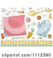 Clipart Cooking And Border Design Elements Royalty Free Vector Illustration