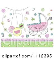 Clipart Baby Border And Design Elements Royalty Free Vector Illustration