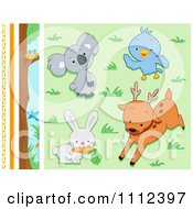 Clipart Cute Wild Animal Design Elements Royalty Free Vector Illustration by BNP Design Studio