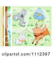 Cute Wild Animal Design Elements