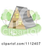 Clipart A Frame House Royalty Free Vector Illustration