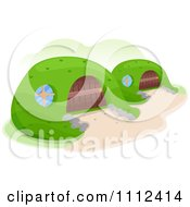 Clipart Earth Shelter Homes Royalty Free Vector Illustration by BNP Design Studio