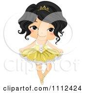 Cute Happy Asian Girl In A Ballet Tutu