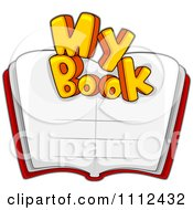 Clipart My Book Text Over An Open Book Royalty Free Vector Illustration by BNP Design Studio