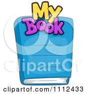 Clipart My Book Text Over A Cover Royalty Free Vector Illustration by BNP Design Studio