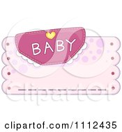 Clipart Baby Diaper With Text Over Pink With Copyspace Royalty Free Vector Illustration by BNP Design Studio