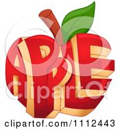 Clipart Carved Red Apple With Text Royalty Free Vector Illustration by BNP Design Studio