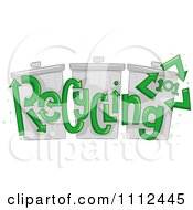 Clipart Recycling 101 Text Over Trash Bins Royalty Free Vector Illustration by BNP Design Studio