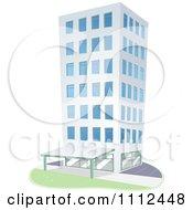 Clipart City Highrise Condominium Building Royalty Free Vector Illustration