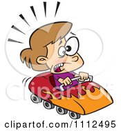 Clipart Scared Girl On A Roller Coaster Royalty Free Vector Illustration