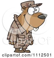 Clipart Military Gopher Royalty Free Vector Illustration