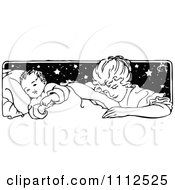 Clipart Vintage Mother Tucking Her Baby In Royalty Free Vector Illustration by Prawny Vintage
