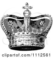 Clipart Vintage Black And White Coronet Crown 1 Royalty Free Vector Illustration by Prawny Vintage