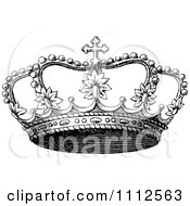 Clipart Vintage Black And White Coronet Crown 3 Royalty Free Vector Illustration by Prawny Vintage