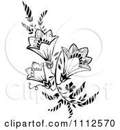 Clipart Vintage Black And White Floral Design Element Royalty Free Vector Illustration
