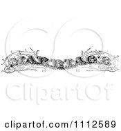 Clipart Vintage Black And White Marriage Text Royalty Free Vector Illustration