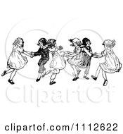 Retro Black And White Children Dancing