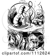 Clipart Alice Talking To The Smoking Caterpillar In Wonderland Royalty Free Vector Illustration