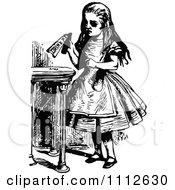 Alice Holding A Drink Me Bottle Before Entering Wonderland
