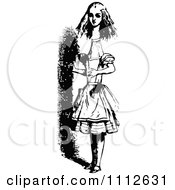 Clipart Alice Growing Tall In Wonderland Royalty Free Vector Illustration