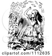 Clipart Cards Flying At Alice In Wonderland Royalty Free Vector Illustration
